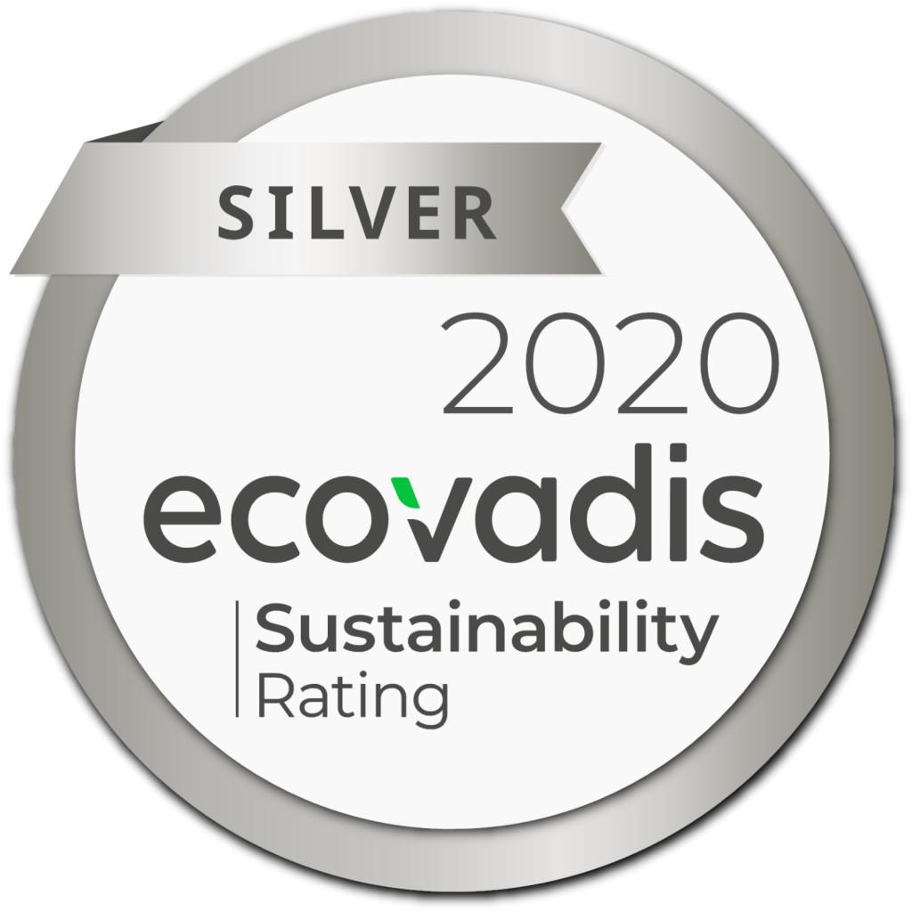 Silver 2020 ecovadis - Sustainability Rating